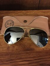 RARE TRUE 1970's VINTAGE B&L Ray Ban Aviator Sunglasses 62mm Excellent Condition
