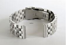 20mm SOLID Stainless Steel Straight End Metal Watch Screw Links Bracelet Men