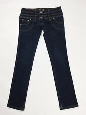 Please jeans M W28 tg 42 slim skinny donna usato stretch blu aderenti hot T2484