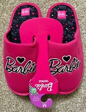Mattel 60th Anniversary BARBIE Pink Novelty Slippers Medium 5-6 - Primark - NEW!