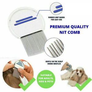 NIT COMB | Nitty Nits Metal Head Lice Brush Adults Kids Pets Hair Knit Gritty