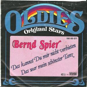 """Bernd Spier, Das kannst du mir nicht verbieten, G/VG, 7"""" Single, 9-1481"""