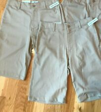 NWT Lot of 2 Boys Khaki Chino Shorts Class Club Adjustable Waist 14 NEW $52
