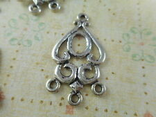 15 Silver Plated 3 to 1 Loop Chandelier Connectors Findings 33930