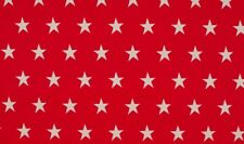 Tela De Algodón Estrella Grande Rojo Blanco
