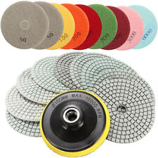 Wet Dry Diamond Polishing Pads 4 Inch Kit For Granite Concrete Marble Polish NEW