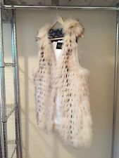 Genuine Fox Fur Layered Vest Women's 38 M