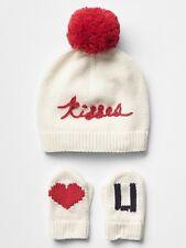 GAP Baby Boy   Girl Size 6-12 Months Ivory   Red Valentine Hat   2063bf696c10