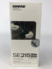 New Shure se215M+ SPE White Remote mic for Apple IOS  Warranty Free Shipping