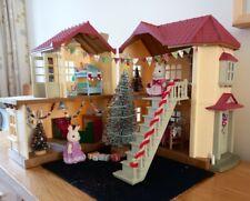 SYLVANIAN FAMILIES DECORATED CHRISTMAS HOUSE BUNDLE FIGURE FURNITURE Theme Set