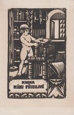Ex-libris Mani PRIBILOVÉ gravé par J. ULMAN.