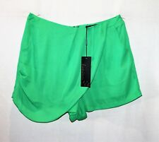 Sambara Brand Green Chiffon High Waist w Pockets Dress Short Size 12 BNWT #TK65