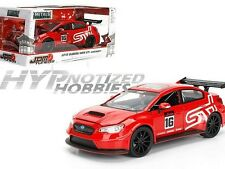 JADA 1:24 JDM 2016 SUBARU WRX STI WIDEBODY #16 DIE-CAST RED 99091