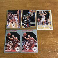 (5) 1990-1991 Hoops Charles Barkley #225 Philadelphia 76ers NBA Basketball Lot