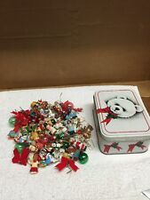 Tin Can Full Of Mini Christmas Ornaments