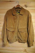 Vtg 80's David Conrad Leather Brown Jacket Bomber Large