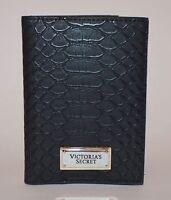 Victoria's Secret Passport Holder Black//Gold Laser Cut Card Holder
