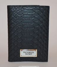 Victoria's Secret Black Python Passport funda estuche cartera viaje