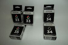 Lot-4 Lexmark Black Color Ink Cartridge 33 34 35 for P315 X4550 Z810 280/500 NEW