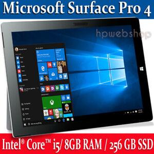 Microsoft Surface Pro 4 Intel i5 8GB RAM is 256GB SSD Keyboard Win10P Grade A +