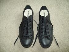 CONVERSE ALL*STARS BLACK LEATHER MEN'S 8 WOMEN'S 10 training shoes tennis casual