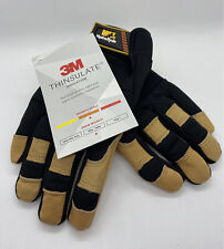 🔥NEW 3M Thinsulate HydraHyde Lined Premium Deerskin Gloves Sz Small +FREE SHIP
