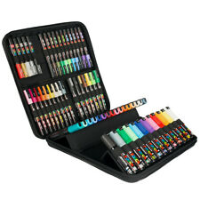 Uni Posca Marker Pens - New Edition 60 Pen Set - Carry Case Wallet Included