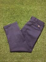 Dickies 874 Original Fit Work Pants Navy Workwear Mens Size 38x29