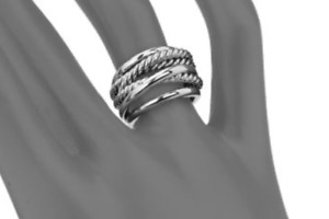 David Yurman Narrow Crossover Ring - Size 8 - w/DY Pouch - Ret. $375 - Authentic