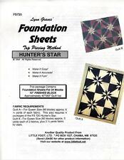 "Lynn Graves Foundation Sheets Top Piecing Method 24 Blocks 10"" Hunters Star"