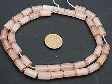 Strang Mop Beads Mother of Pearl plume perles de verre de Bohême Rose