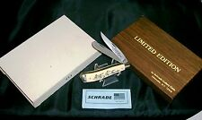 Schrade 285UH Knife 1985 Scrimshaw First Migratory Bird Stamp W/Packaging,Papers