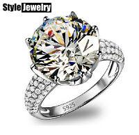 18k White Gold Filled 4.75 Carat Stone Wedding Engagement Ring Size 6 R118