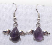 Hook Silver Plated Amethyst Fashion Earrings