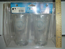 NEW YORK YANKEES STADIUM 2009 PINT GLASS SET INAUGURAL SEASON Man Cave MLB