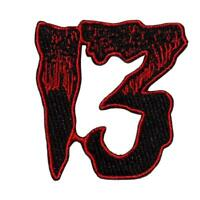 Kreepsville 666 Unlucky 13 Red Horror Halloween Punk Goth Iron On Patch PU13R
