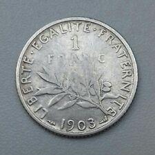 1 Franc Semeuse 1903 Argent/Silver RARE