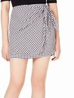 Maison Jules Womens Skirt Black Size XL Mini Wrap Plaid Elastic Waist $49 101