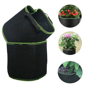 1-100 Gallon Fabric Grow Pot Bags Gardening Plant Flower Vegetable Planter Pots