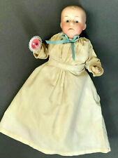 """5.5"""" Gebruder Heubach Pouty Baby - Solid Dome Antique Doll - Bisque-Head German"""