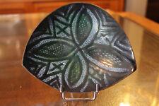 Coupelle en cuivre émaillé décor feuillage copper enamel cup