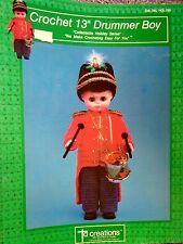"Crochet Drummer Boy 13"" - 1989 - TD Creations Leaflet No. HOL-795, Pattern Only"