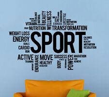 Fitness Motivation Wall Decal Gym Sport Vinyl Sticker Atr Home Wall Decor (3fw)