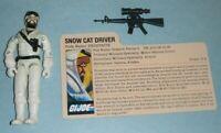 1985 GI Joe Artic Snow Cat Driver Frostbite v1 Figure w/ File Card *Complete