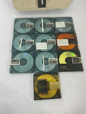 lot of 10  Memorex & sony Minidiscs with  Case. MD74