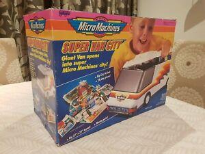 Micro Machines Super Van City with Original Box plus Cars - Vintage 1991