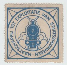 Netherlands Railway Parcel stamp 7-11-21 hint of small edge thin, no gum else OK