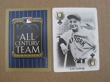 LOU GEHRIG playing card MLB All Century Team New York Yankees MLB