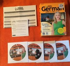 Instant Immersion German Language Teaching Software Levels 1, 2 & 3 Retail Box
