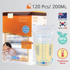 120x Pre-Sterilised Breastmilk Baby Breast Milk Storage Bags Pouches 200ML